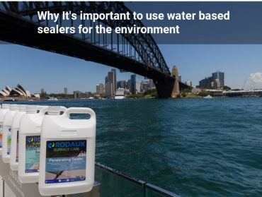 Why it's Important to Use Water Based sealers for the environment