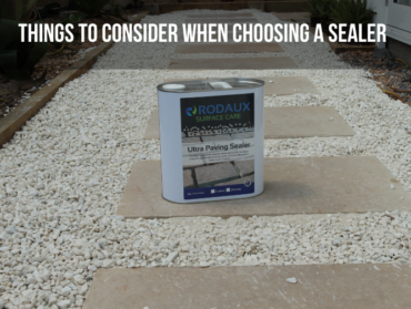 Things to consider when choosing a sealer